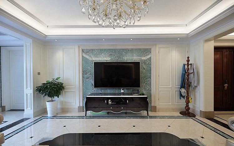 客厅图片来自家装大管家在时尚情怀 125平欧式古典雅致3居的分享