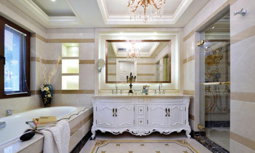 东郊罗兰 东方别墅 美式风格 腾龙设计 刁振瑛作品 卫生间图片来自刁振瑛在东方别墅美式完工实景展示的分享