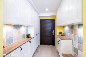 三居 田园 玄关图片来自幸福空间在102平触动指尖温度的美宅的分享