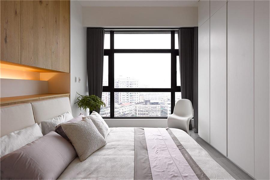 港式 三居 大户型 白领 收纳 80后 小资 卧室图片来自高度国际姚吉智在135平米现代港式精致个性范儿的分享