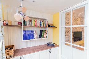 三居 田园 书房图片来自幸福空间在102平触动指尖温度的美宅的分享