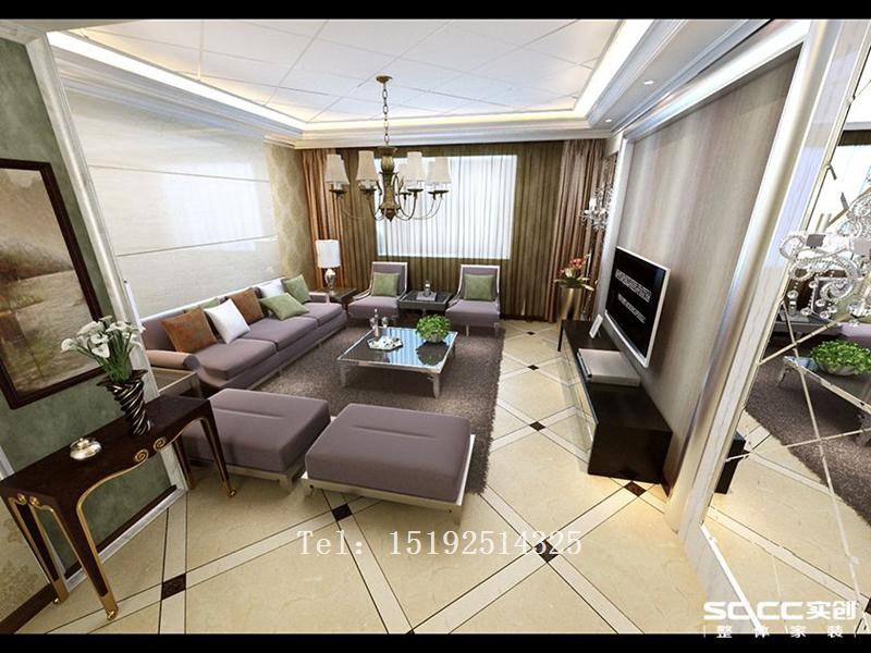实创 家装 花溪地 三居 欧式 客厅图片来自快乐彩在青特花溪地138平欧式装修的分享