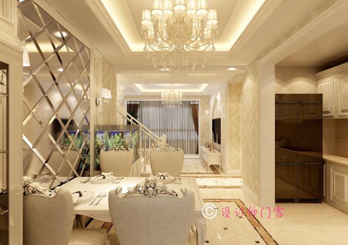 三居 五彩阳光城 欧式阁楼 客厅图片来自百家设计小刘在五彩阳光城140平欧式阁楼的分享