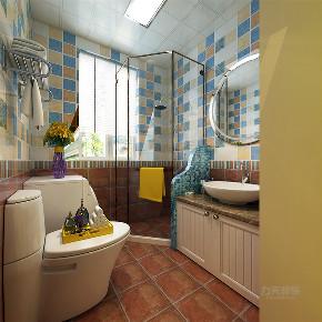 二居 地中海 蘭园 卫生间图片来自阳光力天装饰在蘭园-63.84㎡-地中海风格的分享