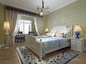 地中海 三居 收纳 小资 卧室图片来自阳光放扉er在力天装饰-瑞园小区-130㎡-地中海的分享