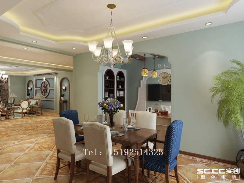 别墅 百福山庄 装修 地中海 餐厅图片来自快乐彩在百福山庄400平地中海别墅装修的分享