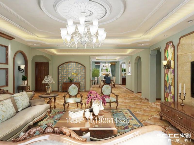 别墅 百福山庄 装修 地中海 客厅图片来自快乐彩在百福山庄400平地中海别墅装修的分享