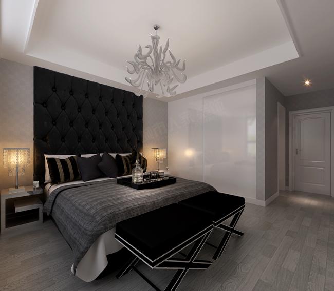 简约 三居 白领 收纳 小资 卧室图片来自西安城市人家装饰王凯在开元第一城148㎡简约黑白灰的分享