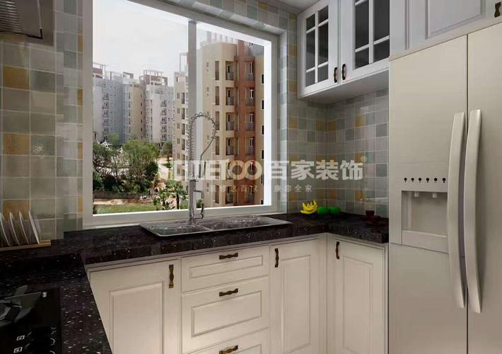 三居 中海康城 轻美式风格 厨房图片来自百家设计小刘在中海康城125平轻美式风格的分享