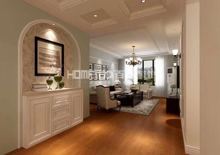 三居 中海康城 轻美式风格 客厅图片来自百家设计小刘在中海康城125平轻美式风格的分享