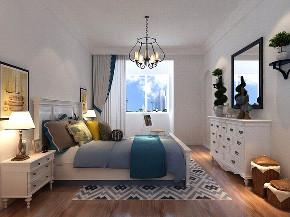 地中海 二居 收纳 小资 卧室图片来自阳光力天装饰在力天装饰-沽上江南-89㎡-地中海的分享