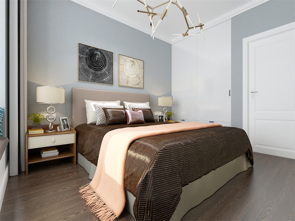 简约 现代 现代简约 二居 白领 小资 卧室图片来自阳光放扉er在力天装饰-皓林园-81㎡-现代简约的分享