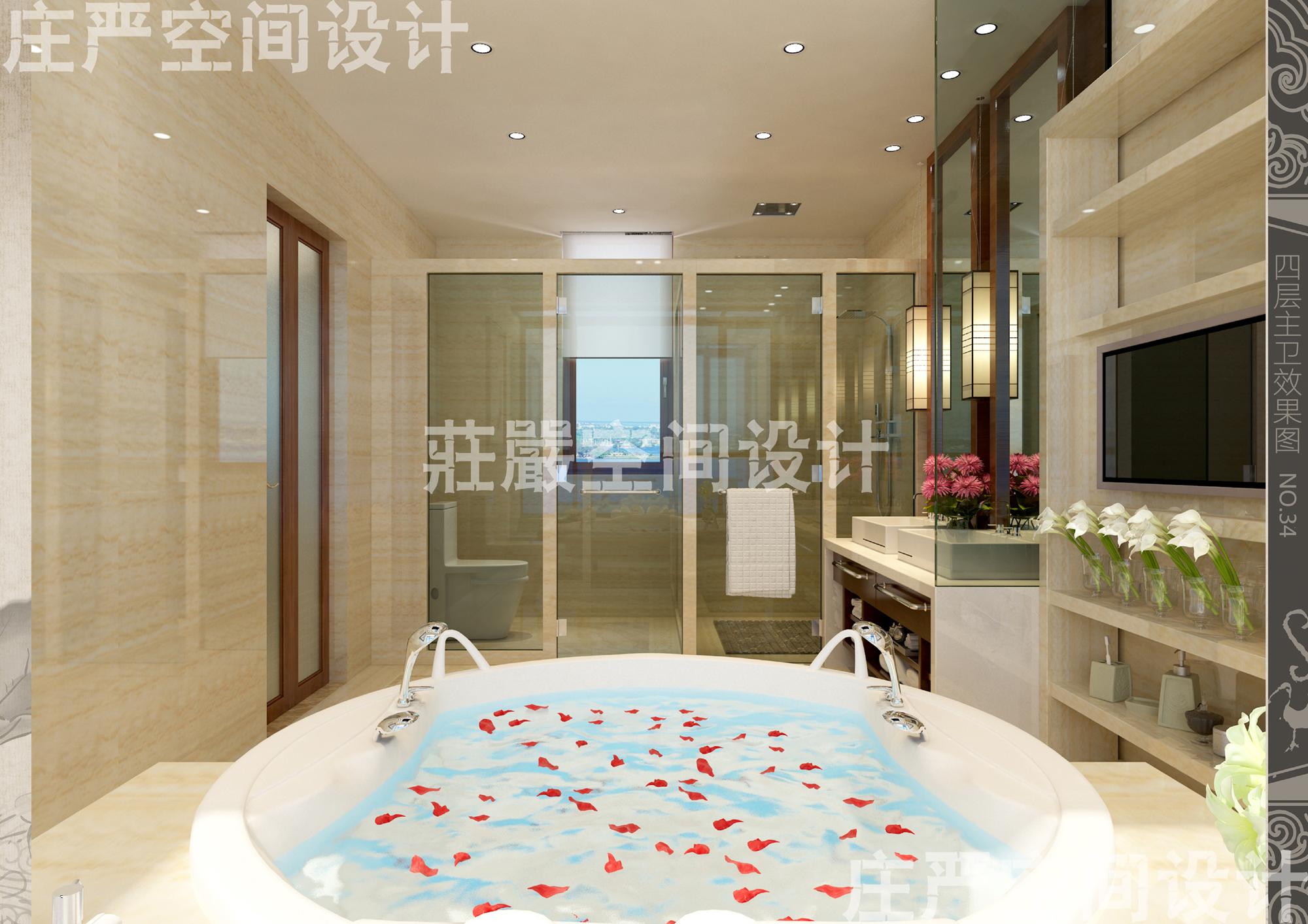 客厅 卧室 浴室图片来自庄严空间设计在威海两岸金岭别墅的分享