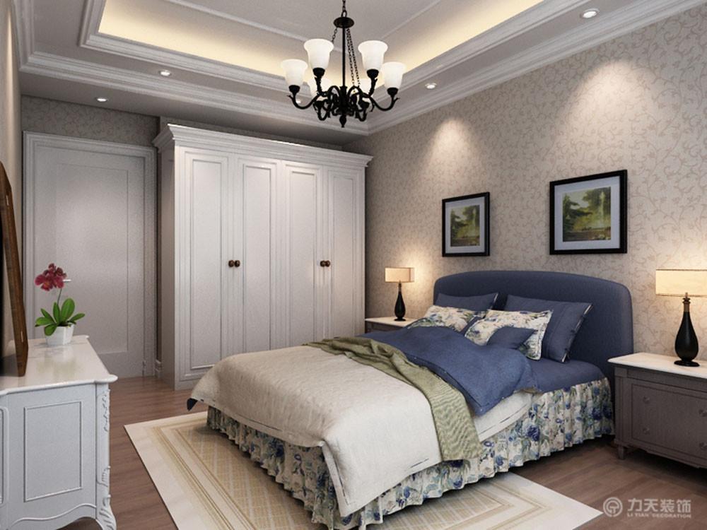 欧式 简约 复式 白领 80后 卧室图片来自阳光力天装饰在力天装饰-珑著-185㎡-简欧风格的分享