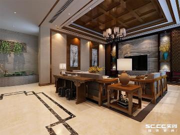 万科青岛小镇324平美式装修设计
