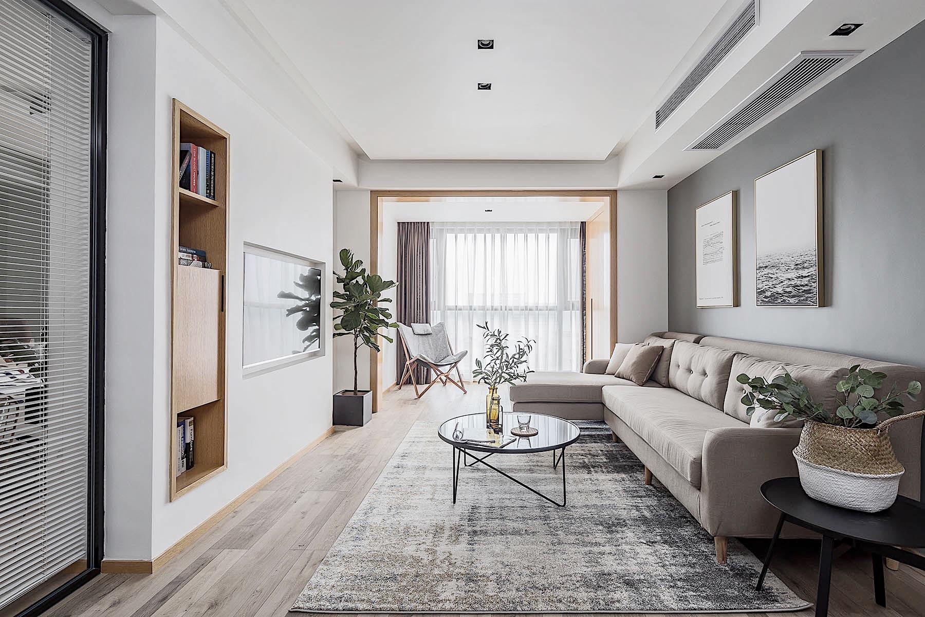 简约 二居 三居 客厅 卧室 厨房 餐厅图片来自一点装修装饰设计在100平米现代简约风格案例欣赏的分享