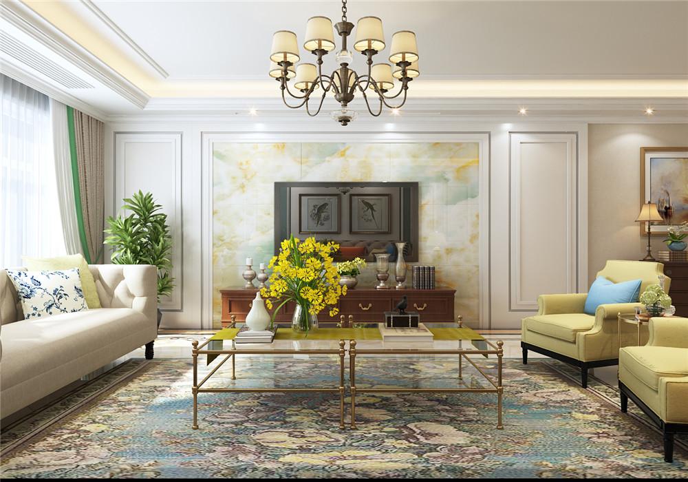 客厅图片来自青岛业之峰装饰--小娟在晓港名城五期169㎡美式风格的分享