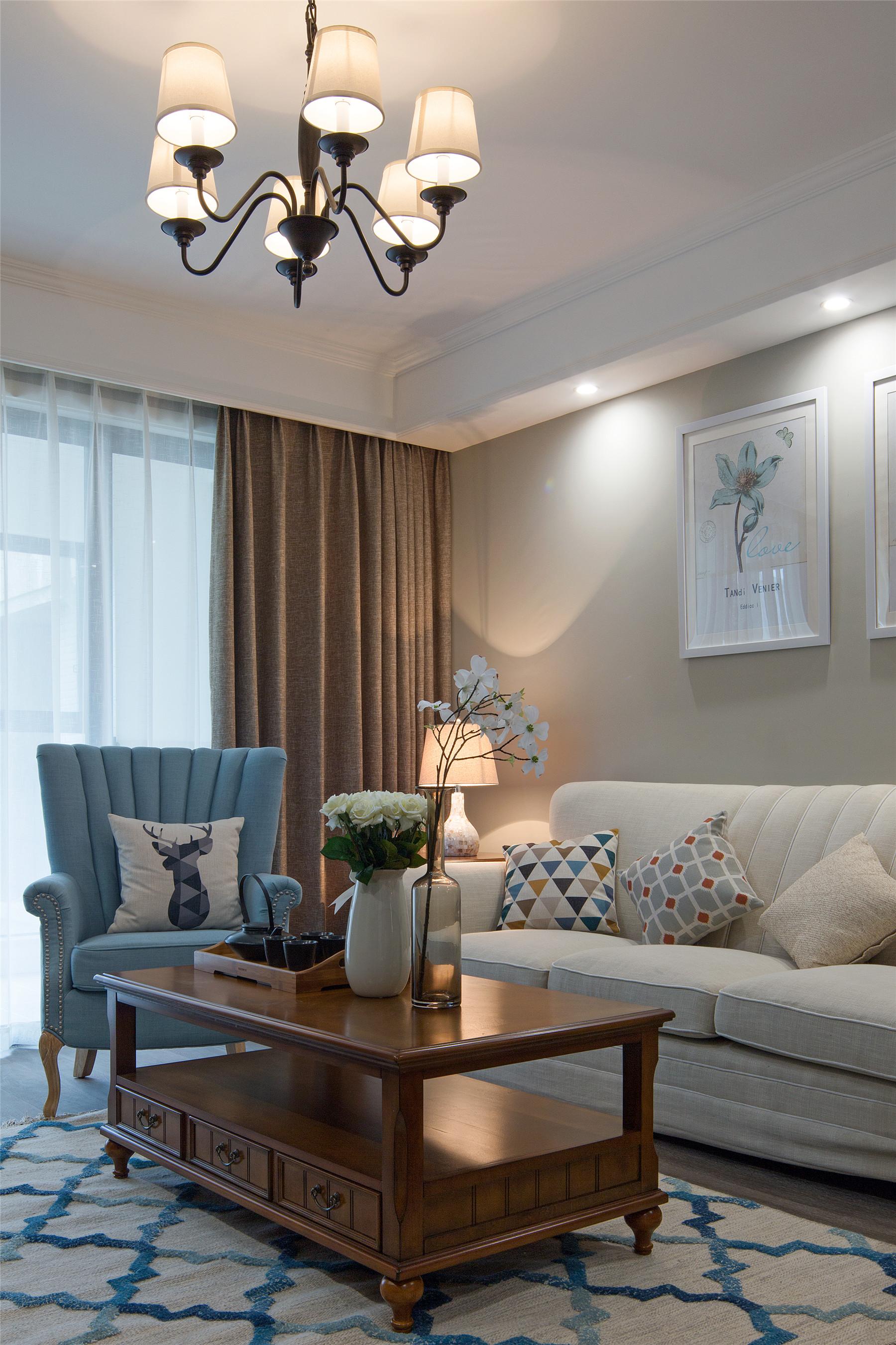融景城 美式 重庆唐卡 唐卡装饰 客厅图片来自黄丑丑99在融景城——简美的分享