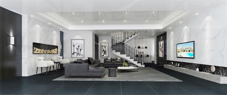 简约 二居 三居 客厅 卧室 厨房 餐厅图片来自一点装修装饰设计在西安宸宇装饰360平现代简约风格的分享