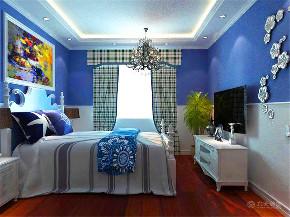 地中海 三居 白领 80后 小资 卧室图片来自阳光力天装饰在力天装饰-盛景湾-132㎡-地中海的分享