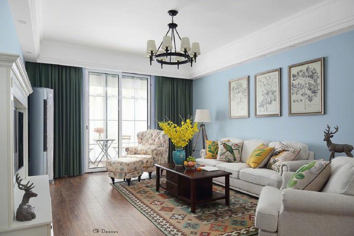 客厅图片来自也儿在简约田园风格的分享