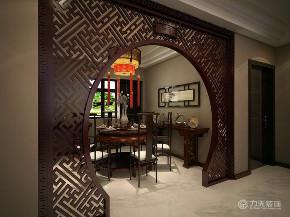中式 三居 收纳 80后 小资 白领 玄关图片来自阳光力天装饰在力天装饰-盛景湾-124㎡-新中式的分享