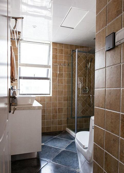 简约 美式 混搭 二居 收纳 婚房 设计 家装 施工 卫生间图片来自众意装饰 李潇在湖居笔记美式混搭风格的分享