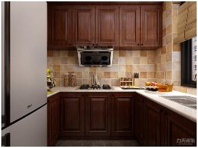 新中式 中式 二居 收纳 小资 厨房图片来自阳光放扉er在力天装饰-德贤公馆-120㎡-中式1的分享