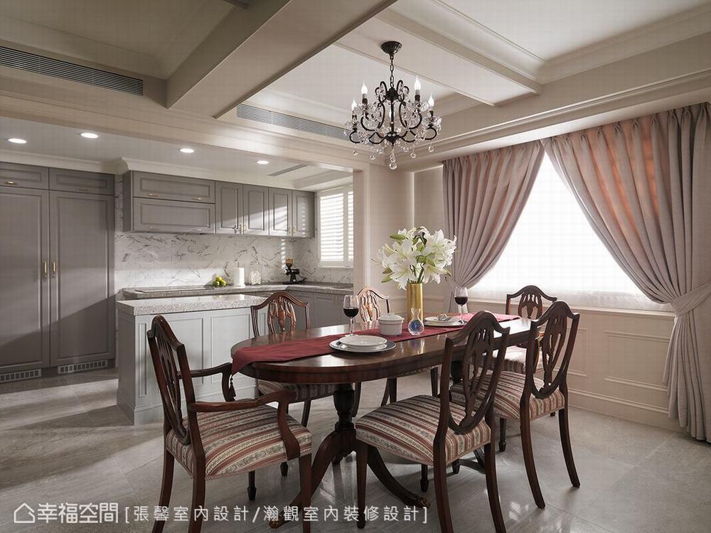 二居 美式 餐厅图片来自幸福空间在承载记忆 诉说135平优雅美式生活的分享