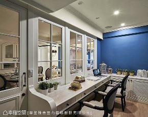 三居 田园 书房图片来自幸福空间在阳光灿烂 132平蓝白色梦幻乡居的分享
