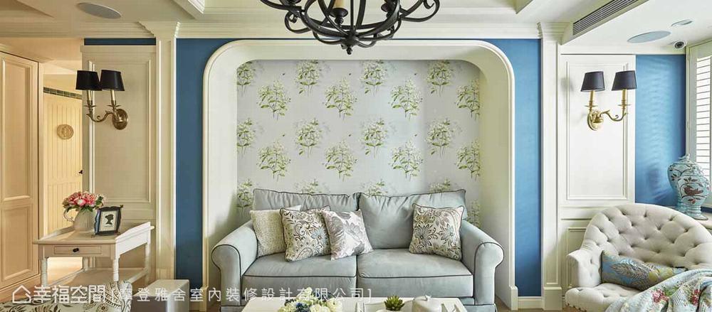 三居 田园 客厅图片来自幸福空间在阳光灿烂 132平蓝白色梦幻乡居的分享