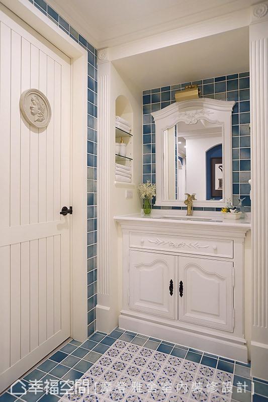 三居 田园 卫生间图片来自幸福空间在阳光灿烂 132平蓝白色梦幻乡居的分享