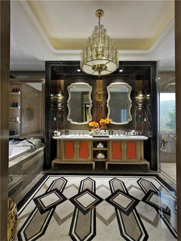 新古典 别墅 复式 跃层 大户型 高帅富 80后 卫生间图片来自高度国际姚吉智在500㎡新古典将浪漫轻奢进行到底的分享