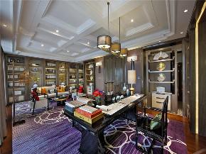 新古典 别墅 复式 跃层 大户型 高帅富 80后 书房图片来自高度国际姚吉智在500㎡新古典将浪漫轻奢进行到底的分享