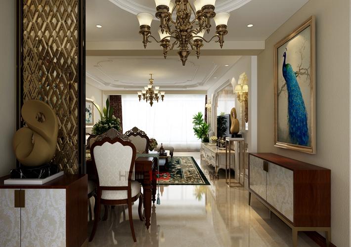 三居 城建东逸花 简欧风格 餐厅图片来自百家设计小刘在城建东逸花园157平简欧风格的分享