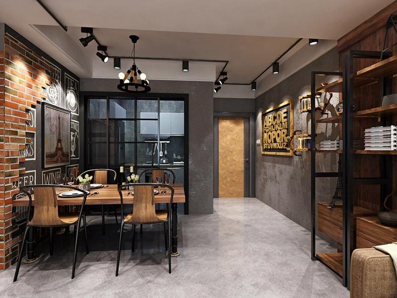曲江香都 现代简约 峰光无限 三室 餐厅图片来自我是小样在曲江香都三室107平现代简约风格的分享