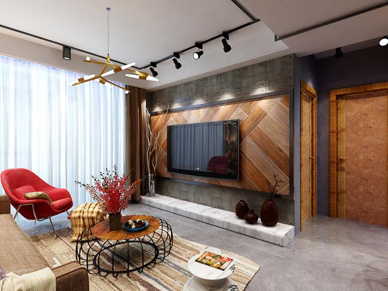 曲江香都 现代简约 峰光无限 三室 客厅图片来自我是小样在曲江香都三室107平现代简约风格的分享