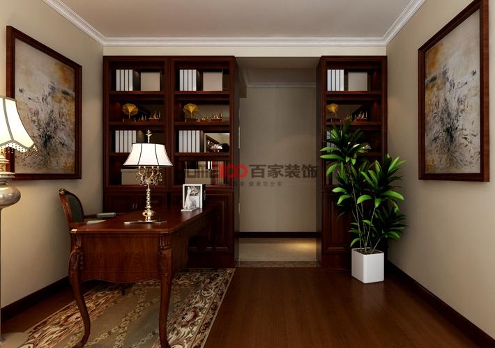 三居 城建东逸花 简欧风格 书房图片来自百家设计小刘在城建东逸花园157平简欧风格的分享