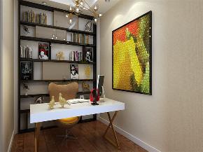 欧式 loft 收纳 白领 80后 书房图片来自阳光放扉er在力天装饰-远洋国际城44㎡-欧式的分享