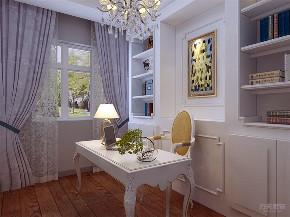 美式 三居 白领 收纳 小资 书房图片来自阳光力天装饰在力天装饰-太阳城96㎡-美式的分享