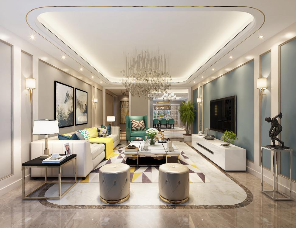 客厅图片来自业之峰装饰旗舰店在温馨典雅的分享