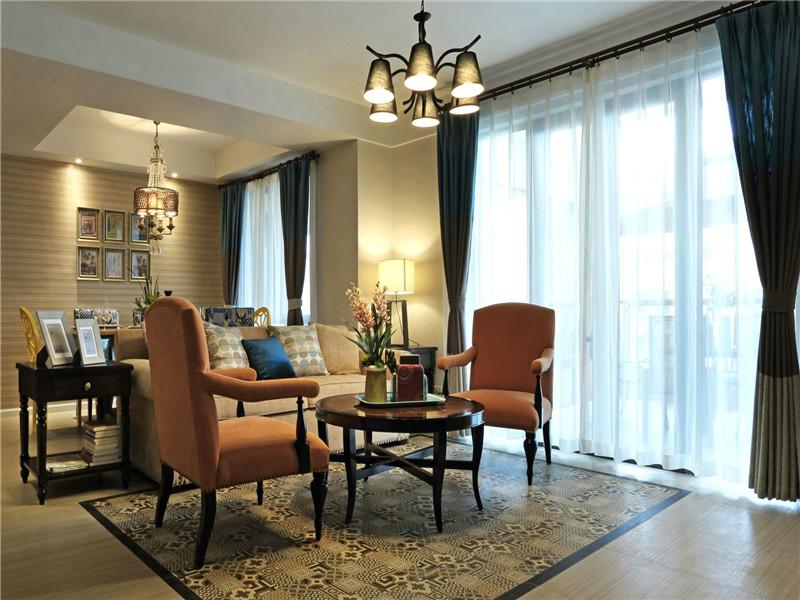 美式 三居 四居 大户型 80后 小资 白领 客厅图片来自高度国际姚吉智在160平米简约美式温和安静小资范的分享