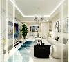 客厅的沙发背景墙并没有设计过多复杂的设计,只是放了装饰画作为装饰,电视背景墙用板材做了不规则的形状,粘贴在墙上做为装饰,餐厅的空间过大,割除空间作为厨房的空间。