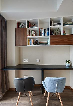 现代 二居 80后 书房图片来自家装大管家在简单而明亮 85平现代雅致舒适居的分享