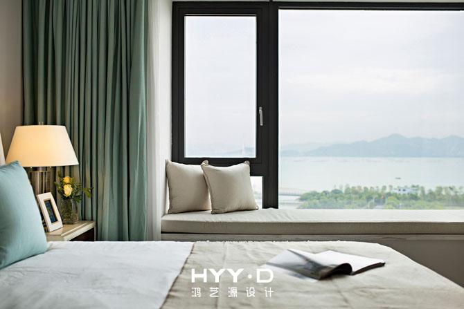 时尚简美 别墅 主卧 卧室图片来自郑鸿在黎光海韵--深圳翡翠海岸室内设计的分享