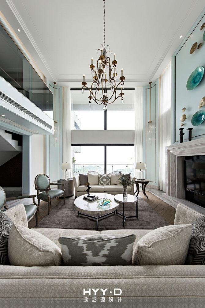 时尚简美 别墅 客厅 客厅图片来自郑鸿在黎光海韵--深圳翡翠海岸室内设计的分享