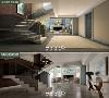 楼梯效果图与实景图对比
