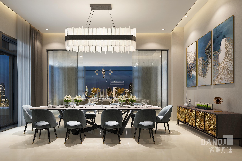 餐厅图片来自名雕丹迪在欢乐海岸独栋1000平米现代风格的分享