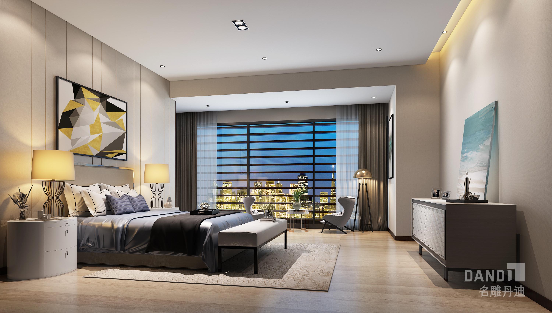 卧室图片来自名雕丹迪在欢乐海岸独栋1000平米现代风格的分享