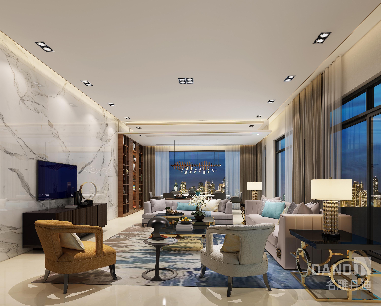 客厅图片来自名雕丹迪在欢乐海岸独栋1000平米现代风格的分享